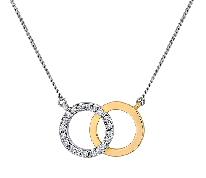 Forever Pendant Gold/White Gold Plated