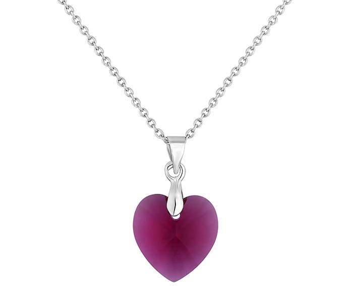 Large Heart Pendant Rose