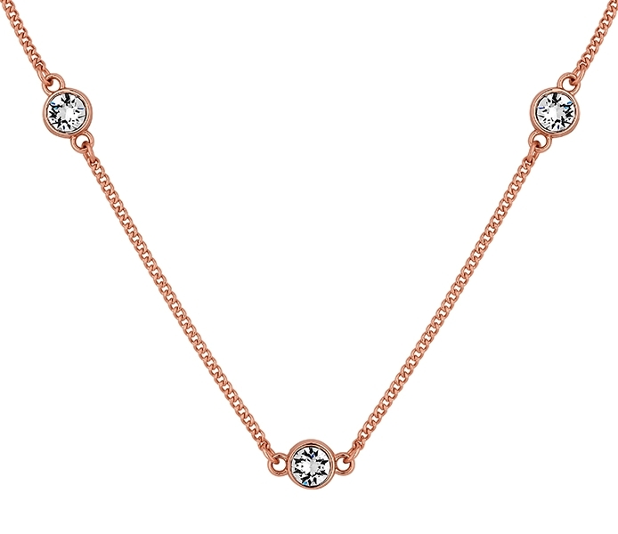 Dew Drop Necklace in Rose Gold Plate