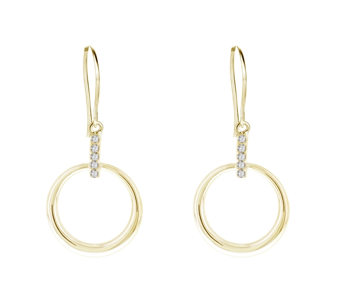 Gold Plated Horizon Earrings