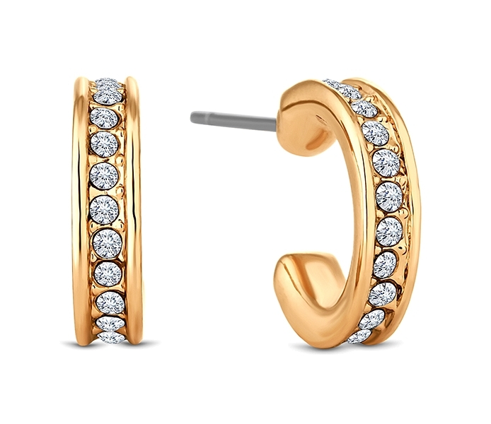 Domino Hoop Earrings in Gold Plate