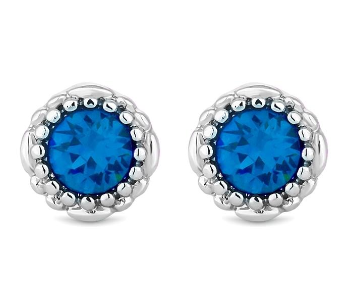 December Gemstone Stud Earrings