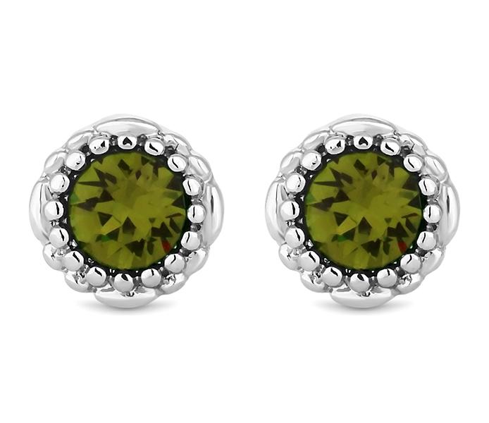 August Gemstone Stud Earrings