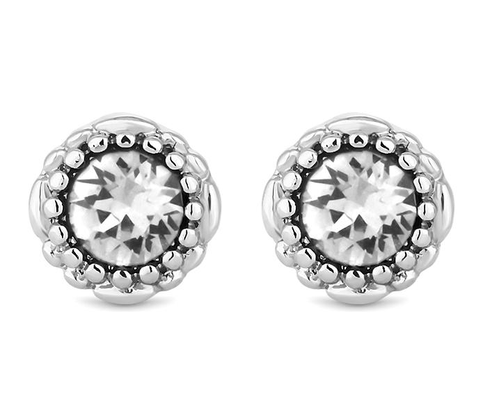 April Gemstone Stud Earrings