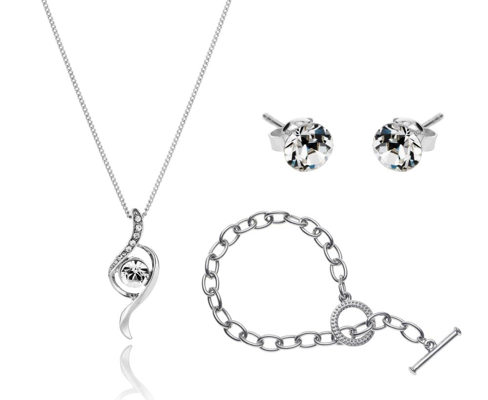 Crystal Bow Set with Tiffany-Style Bracelet