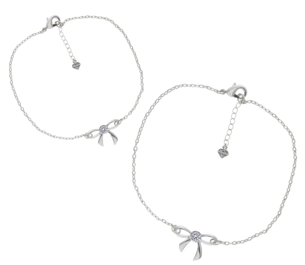 Bow Bracelet and Anklet