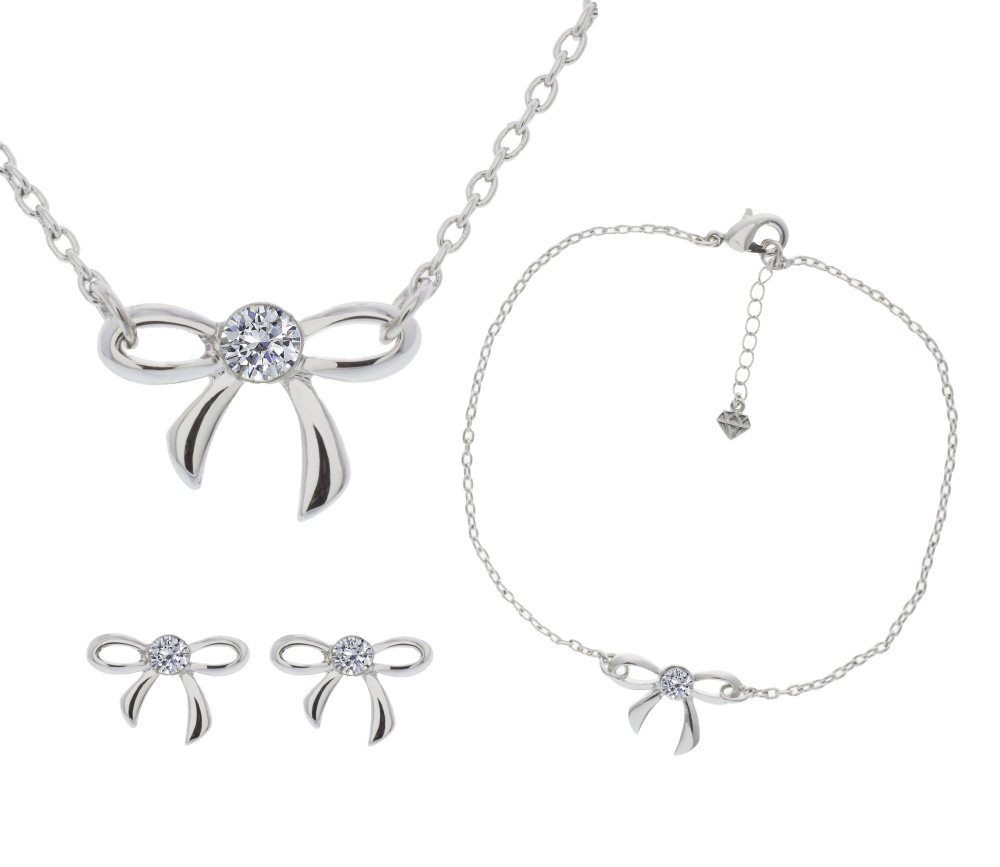 Bow Tri set with Anklet