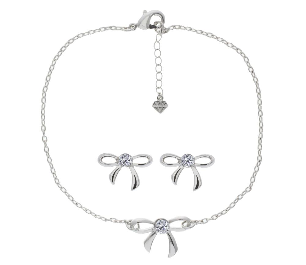 Bow Earrings and Bracelet