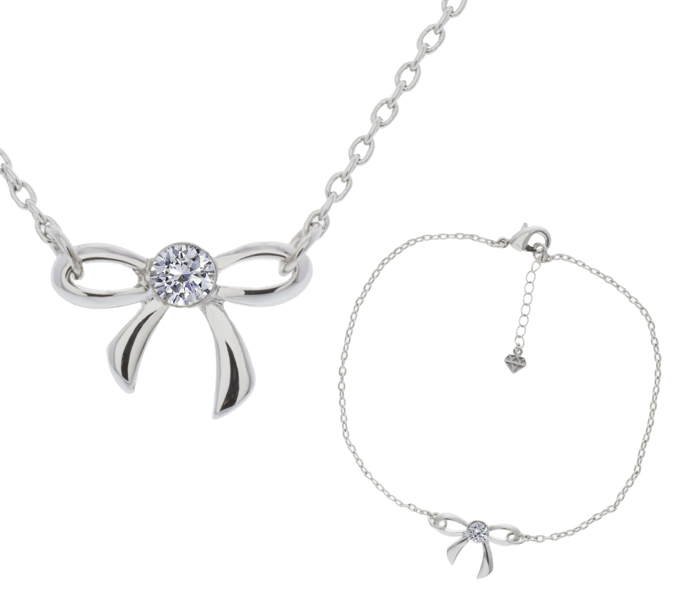 Bow Pendant and Bracelet